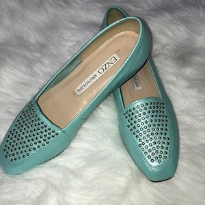 Enzo pearl blue loafer